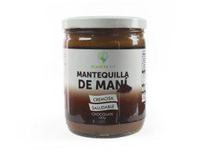 Mantequilla de maní cremosa, saludable sabor a chocolate